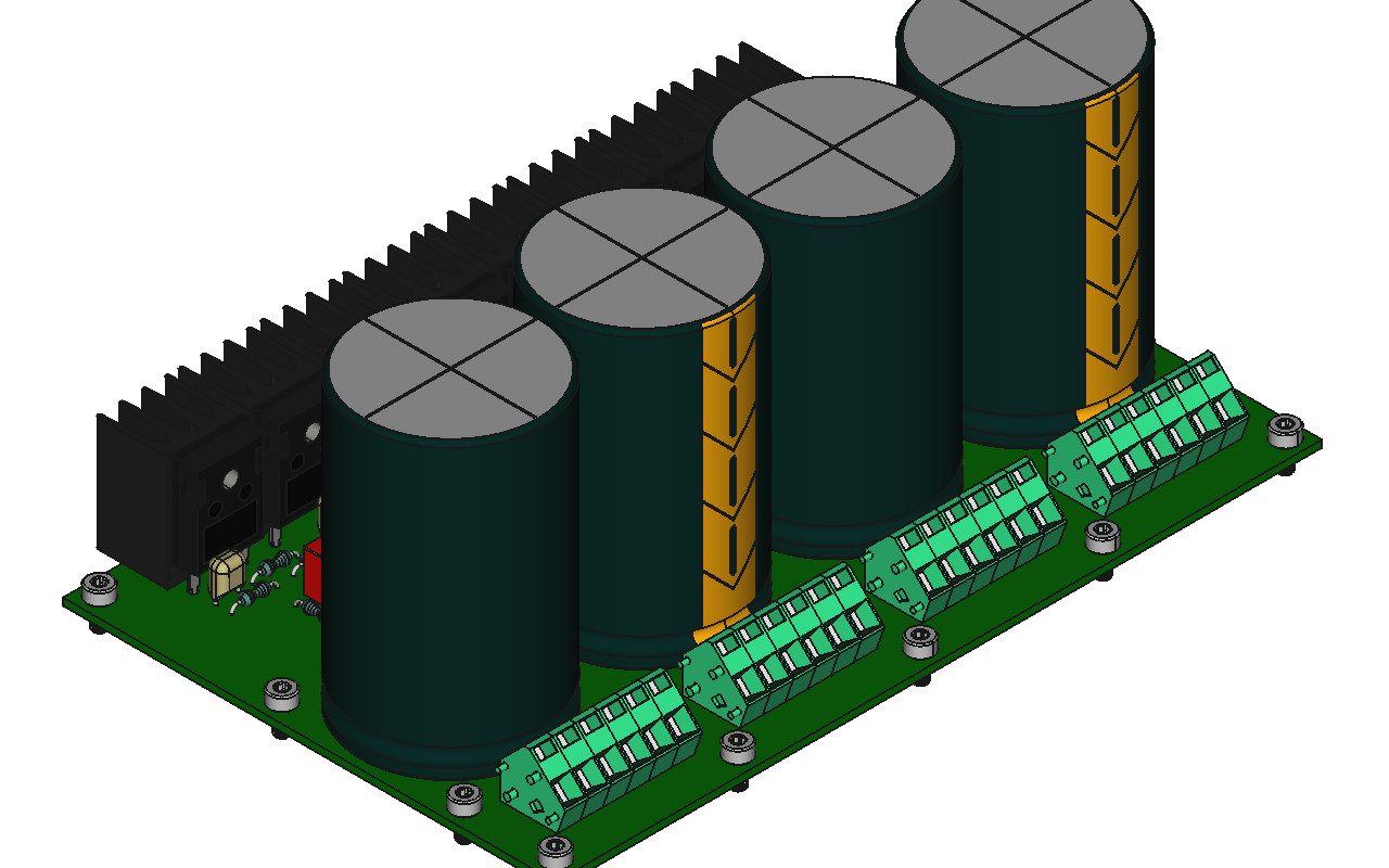 illustration of power supply assembly in 3D