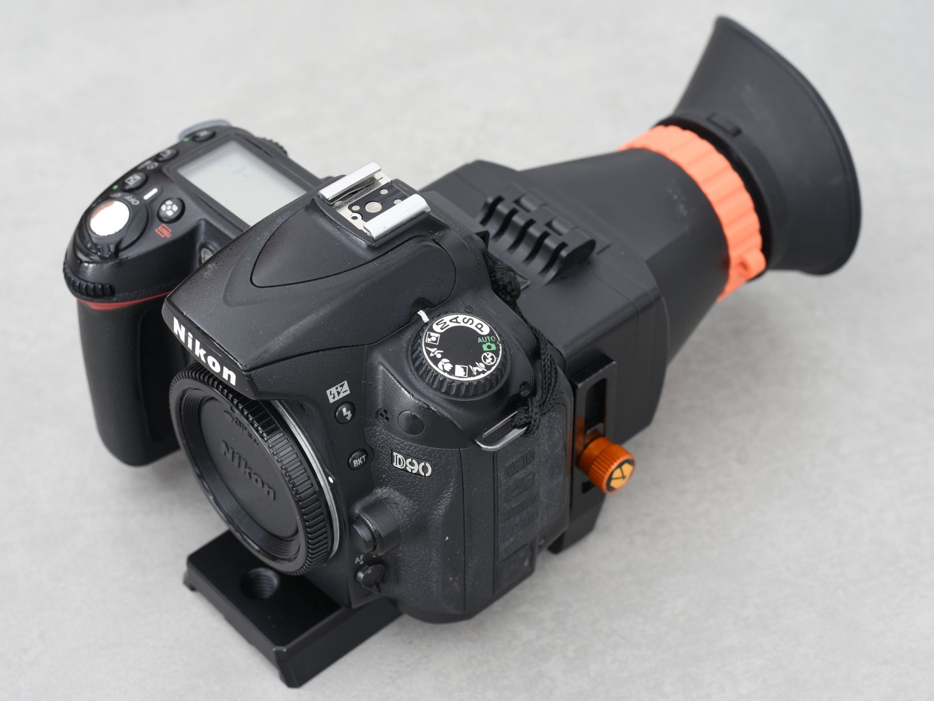 Nikon D90 infrared front view